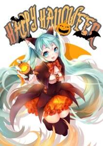 Rating: Safe Score: 23 Tags: animal_ears halloween hatsune_miku lang_yao thighhighs vocaloid wings User: Mr_GT