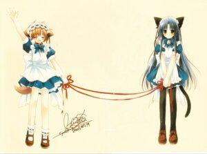 Rating: Safe Score: 20 Tags: animal_ears fixme hinata_(sakurazawa_izumi) inumimi maid nekomimi pure_pure sakurazawa_izumi tail tobari User: DJCodeY