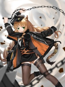 Rating: Safe Score: 17 Tags: animal_ears arknights garter swire_(arknights) tagme tail thighhighs weapon User: BattlequeenYume
