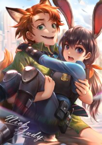 Rating: Safe Score: 13 Tags: animal_ears bunny_ears heels judy_hopps kazeo-yuurin police_uniform tail zootopia User: Mr_GT