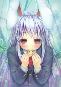 Rating: Safe Score: 11 Tags: animal_ears bunny_ears reisen_udongein_inaba seifuku touhou yorudou User: Mr_GT