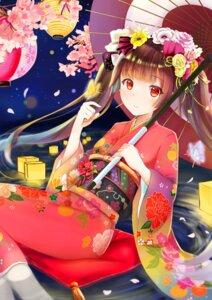 Rating: Safe Score: 36 Tags: eroge-_(artist) kimono umbrella wet User: Mr_GT