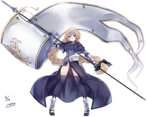Rating: Safe Score: 35 Tags: armor fate/apocrypha fate/stay_night heels kou_mashiro ruler_(fate/apocrypha) thighhighs weapon User: Mr_GT