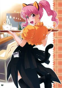 Rating: Safe Score: 8 Tags: animal_ears nekomimi tail thighhighs tsukino_jougi waitress User: blooregardo