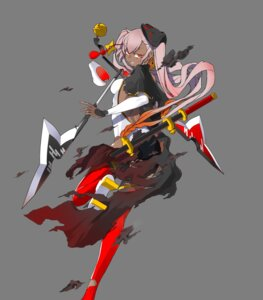 Rating: Questionable Score: 3 Tags: fire_emblem fire_emblem_heroes heels laevatein ninja nintendo swimsuits sword thighhighs torn_clothes weapon yasuda_suzuhito User: fly24