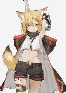 Rating: Safe Score: 14 Tags: animal_ears arknights armor bandages garter kentllaall tail vermeil_(arknights) User: Dreista