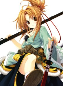 Rating: Safe Score: 71 Tags: bra cleavage miyama-zero oda_nobuna oda_nobuna_no_yabou oda_nobunaga sword User: blooregardo