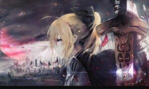 Rating: Safe Score: 37 Tags: aoi_ogata armor blood fate/grand_order saber sword User: AnoCold