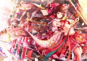 Rating: Questionable Score: 42 Tags: hakurei_reimu japanese_clothes mayonaka_taruho no_bra touhou User: BattlequeenYume