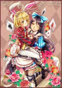 Rating: Safe Score: 20 Tags: alice_in_wonderland animal_ears bunny_ears cosplay dress_shirt tagme tales_of_berseria thighhighs velvet_crowe User: Mr_GT