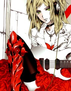 Rating: Safe Score: 8 Tags: guitar headphones kagamine_rin nagimiso nagimiso.sys thighhighs vocaloid User: Radioactive