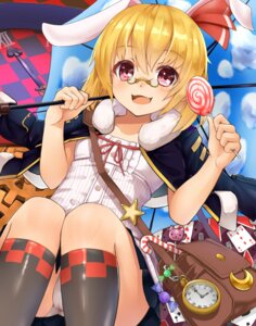 Rating: Questionable Score: 27 Tags: animal_ears bunny_ears cameltoe loli megane pantsu rumia shiron touhou User: Mr_GT