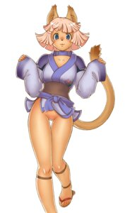 Rating: Explicit Score: 22 Tags: animal_ears armor feet final_fantasy final_fantasy_xi gochou_(kedama) japanese_clothes kimono mithra nekomimi nopan pubic_hair pussy tail uncensored User: Radioactive