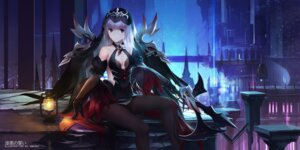 Rating: Safe Score: 20 Tags: aisha_(elsword) cleavage elsword no_bra pantyhose swd3e2 weapon User: Mr_GT