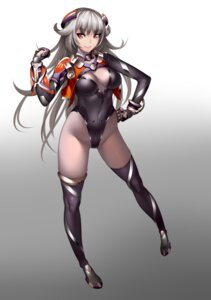 Rating: Questionable Score: 68 Tags: bodysuit cleavage lucknight mecha_musume no_bra nopan thighhighs User: Radioactive