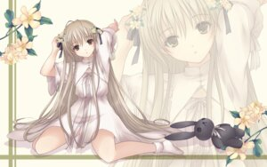 Rating: Safe Score: 55 Tags: akino_subaru dress kasugano_sora wallpaper yosuga_no_sora User: fireattack