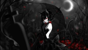Rating: Safe Score: 18 Tags: animal_ears dress nekomimi no_bra sheya skirt_lift tail thighhighs umbrella User: Mr_GT