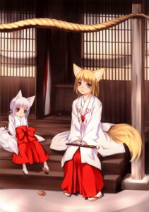 Rating: Safe Score: 20 Tags: animal_ears kitsune miko noantica ooji tail User: fireattack