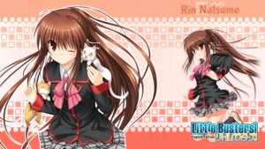 Rating: Safe Score: 9 Tags: key little_busters! na-ga natsume_rin neko seifuku skirt_lift wallpaper User: marechal