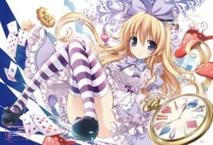 Rating: Safe Score: 46 Tags: alice alice_in_wonderland dress karory thighhighs User: Twinsenzw
