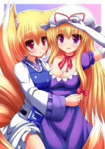 Rating: Safe Score: 22 Tags: animal_ears liya tail touhou yakumo_ran yakumo_yukari User: 椎名深夏