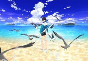 Rating: Safe Score: 10 Tags: free! high_speed! male nanase_haruka nishiya_futoshi sweater swimsuits User: kunkakun