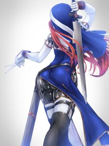 Rating: Questionable Score: 61 Tags: ass bodysuit sword tori_(puru0083) weapon User: Mr_GT