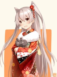 Rating: Safe Score: 55 Tags: amatsukaze_(kancolle) kantai_collection kimono rensouhou-kun takanashie User: Mr_GT