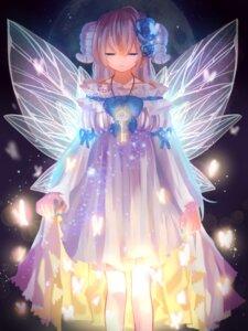 Rating: Safe Score: 37 Tags: dress horns lulu_(artist) skirt_lift wings User: Mr_GT