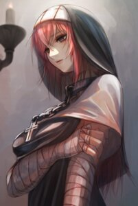 Rating: Safe Score: 16 Tags: bandages nun tagme User: BattlequeenYume