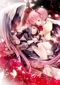 Rating: Safe Score: 23 Tags: akemi_homura cotoji kaname_madoka puella_magi_madoka_magica seifuku thighhighs wings User: Mr_GT