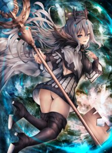 Rating: Questionable Score: 28 Tags: ass heels inaba_sunimi pantsu thighhighs thong weapon User: BattlequeenYume