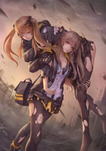 Rating: Safe Score: 62 Tags: bra girls_frontline jay_xu open_shirt pantyhose torn_clothes ump45_(girls_frontline) ump9_(girls_frontline) User: AnoCold