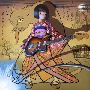 Rating: Safe Score: 16 Tags: guitar kimono neko skyape User: Radioactive