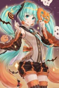 Rating: Safe Score: 22 Tags: bibboss39 halloween hatsune_miku thighhighs vocaloid User: Mr_GT