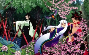 Rating: Safe Score: 18 Tags: katanagatari togame tsuruga_meisai wallpaper yasuri_shichika User: Ash89