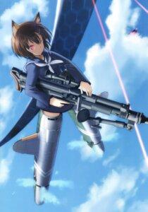 Rating: Safe Score: 12 Tags: animal_ears gun karibuchi_hikari seifuku shimada_humikane strike_witches User: Radioactive
