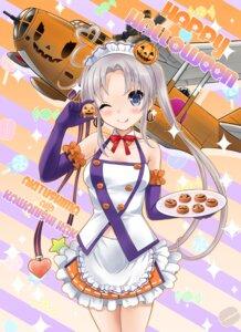 Rating: Safe Score: 20 Tags: akitsushima_(kancolle) halloween kantai_collection maid neko_danshaku User: Mr_GT