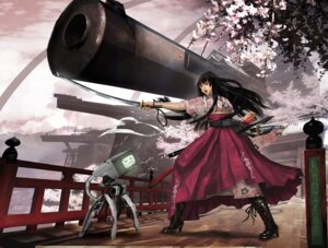 Rating: Safe Score: 19 Tags: gun japanese_clothes sword vanipo User: hobbito