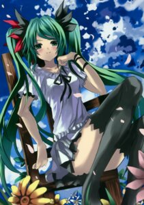 Rating: Safe Score: 43 Tags: eefy hatsune_miku shino_(eefy) thighhighs vocaloid world_is_mine_(vocaloid) User: midzki
