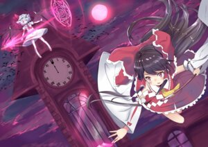 Rating: Safe Score: 22 Tags: dress hakurei_reimu izayoi_cha remilia_scarlet touhou wings User: Mr_GT
