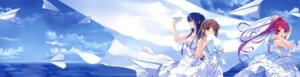 Rating: Safe Score: 67 Tags: abhar cleavage deep_blue_sky_&_pure_white_wings dress fixed koga_sayoko misaki_kurehito miyamae_tomoka summer_dress tsuyazaki_kokage User: fireattack