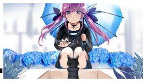 Rating: Questionable Score: 22 Tags: hololive minato_aqua neko umbrella youmu_(tomgoku2) User: Dreista