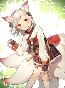 Rating: Questionable Score: 27 Tags: animal_ears azit_(down) japanese_clothes kitsune tail User: sym455