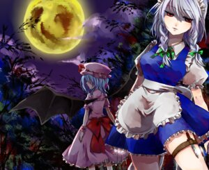 Rating: Safe Score: 16 Tags: izayoi_sakuya kuronekoko remilia_scarlet touhou wings User: Mr_GT