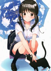 Rating: Safe Score: 52 Tags: bra neko pantsu sakuragi_ren seifuku umbrella User: kiyoe