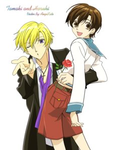 Rating: Safe Score: 5 Tags: fujioka_haruhi ouran_high_school_host_club signed suou_tamaki vector_trace User: xu04bj35265