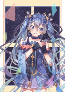 Rating: Safe Score: 35 Tags: dress hatsune_miku sora_(zwz030) vocaloid yuki_miku User: Mr_GT