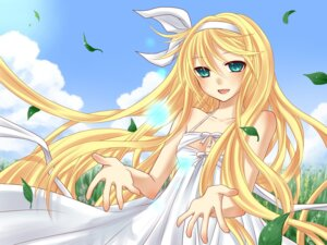 Rating: Safe Score: 18 Tags: cleavage dress kagamine_rin summer_dress vocaloid yayoi User: fairyren