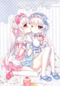 Rating: Safe Score: 29 Tags: animal_ears dress gothic_lolita heels lolita_fashion tagme thighhighs tsukikage_nemu yuri User: kiyoe